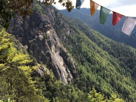 Tiger's Nest view from the valley Bhutan 2