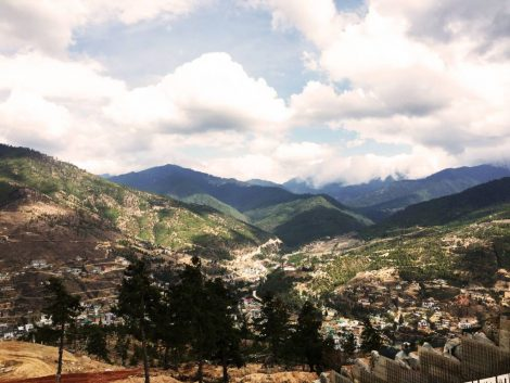 View From Bhudda Point, Thimphu Bhutan