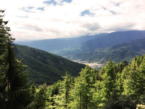 View of Paro Valley from Tiger Nest Hike, Bhutan